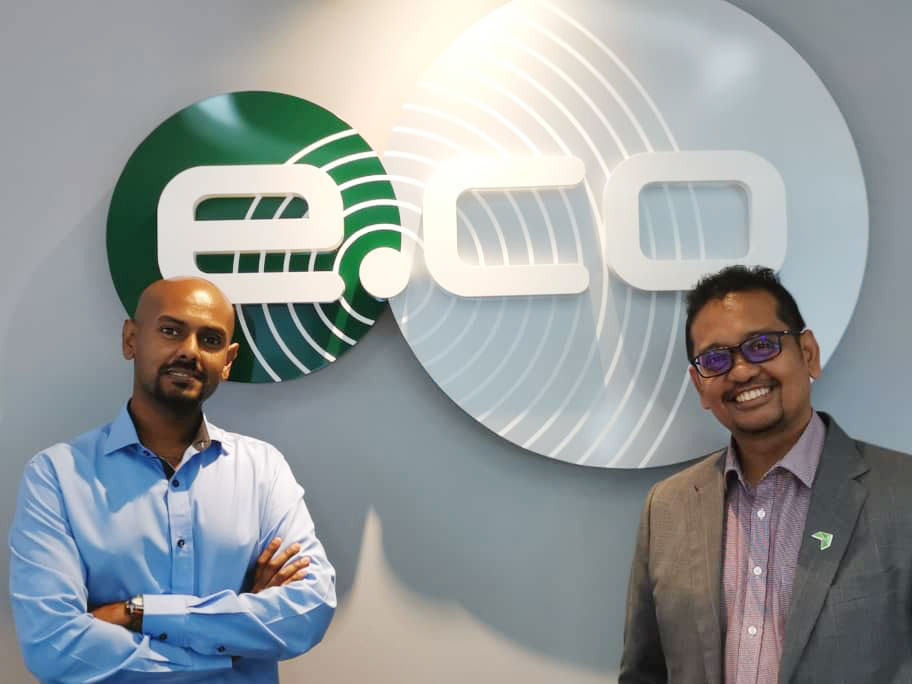 Ashok Muthu, Head of Service Excellence of edotcogroup and Kamarul Muhamed, Group CEO of Aerodyne Group