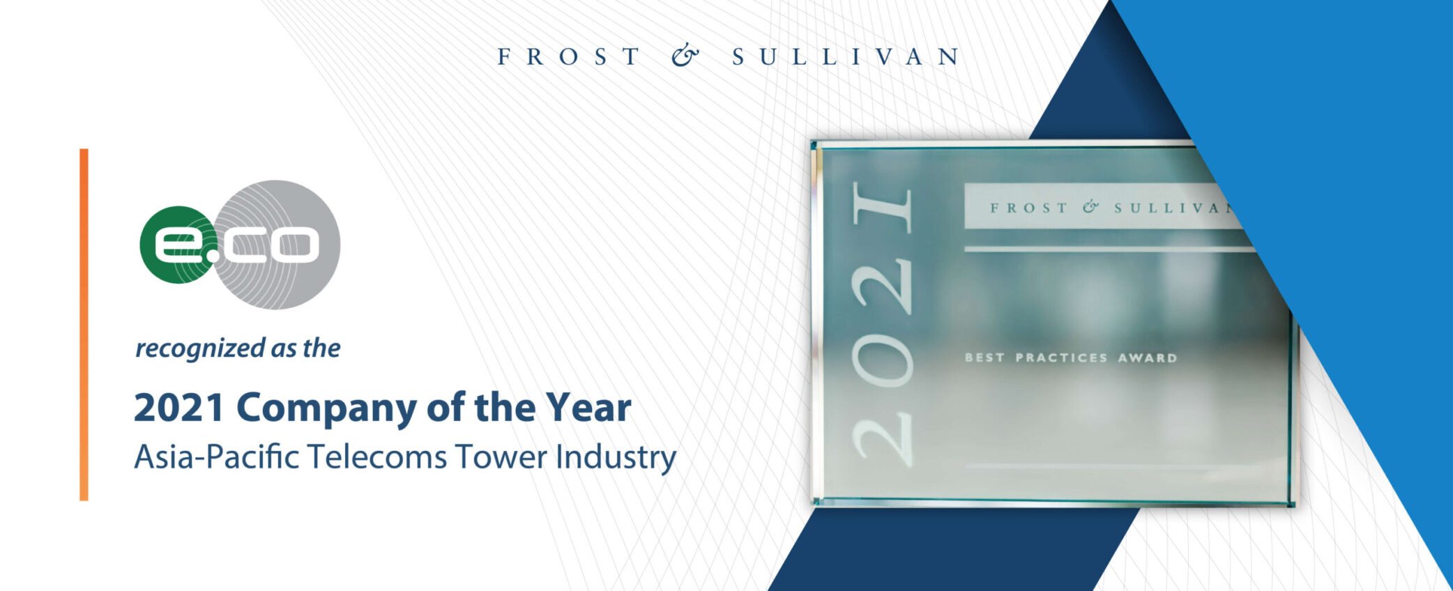"""edotco Wins """"Asia Pacific Telecoms Tower Company of the Year"""" Award by Frost & Sullivan for Fifth Year Running"""